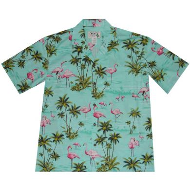 "Chemise Hawaïenne ""Flamants Roses"""