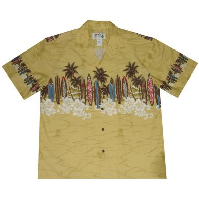 "Chemise Hawaïenne ""Boards at the beach"""